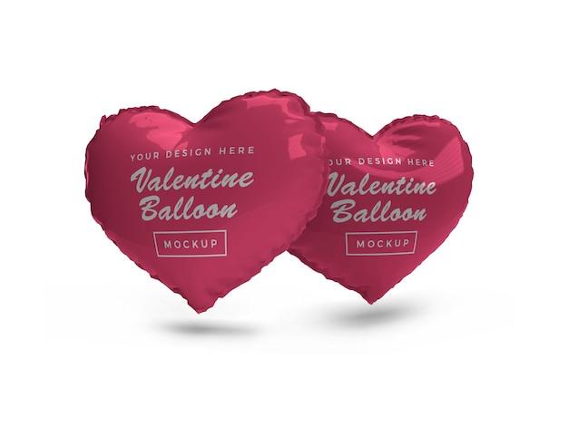Valentijn hart ballon mockup ontwerp