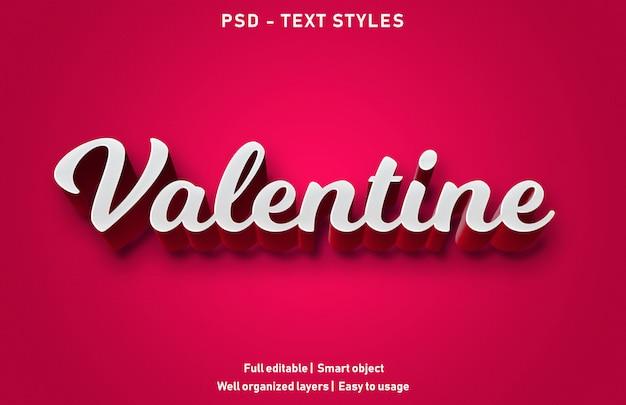 Valentijn tekst effect