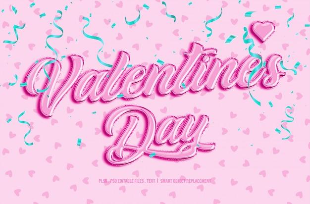 Valentijnsdag 3d tekststijl mockup