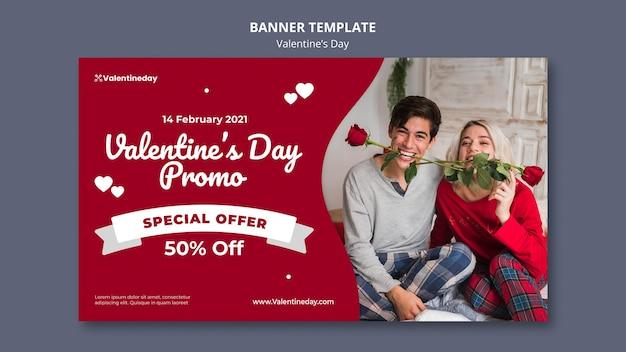 Valentijnsdag banner met foto