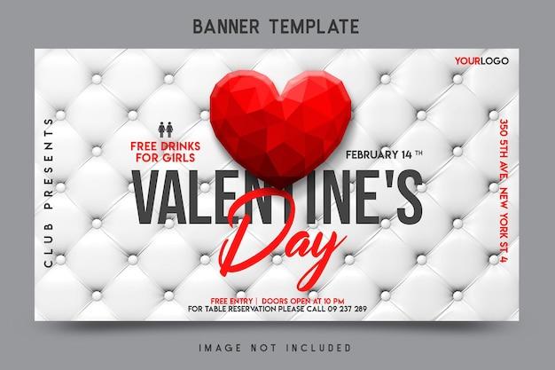 Valentijnsdag banner sjabloonontwerp
