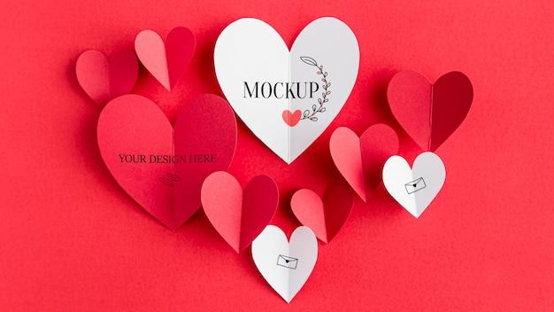 Valentijnsdag concept mock-up