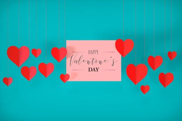 Valentijnsdag concept mockup in 3d-rendering
