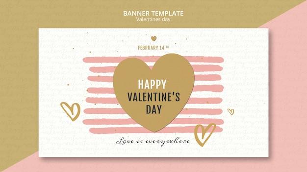 Valentijnsdag concept sjabloon voor spandoek