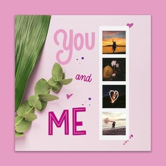 Valentijnsdag cover mockup met afbeelding