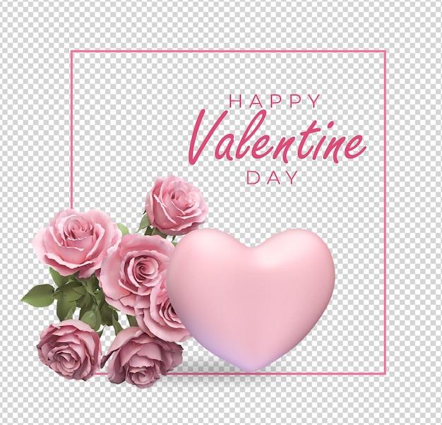 Valentijnsdag decoratie mockup ontwerp