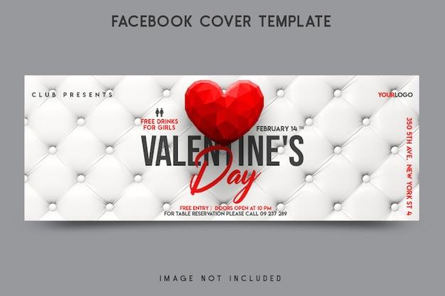 Valentijnsdag facebook omslagsjabloon ontwerp