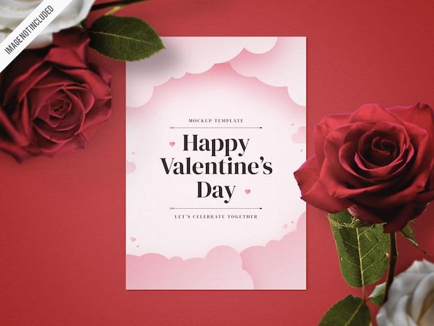 Valentijnsdag flyer mockup