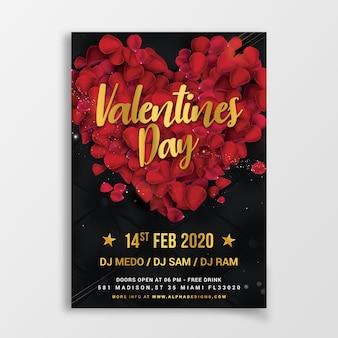 Valentijnsdag flyer party