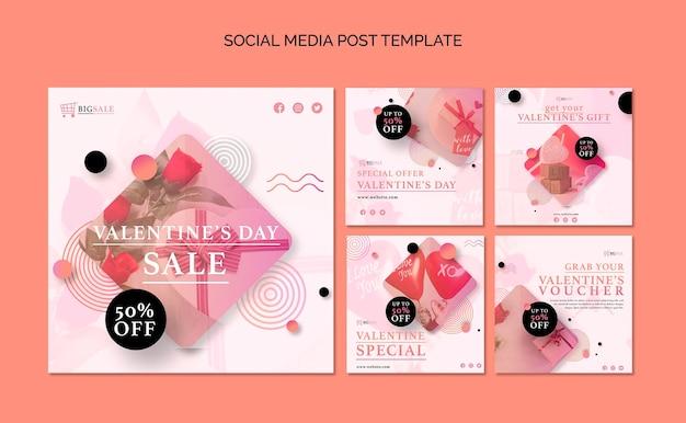 Valentijnsdag instagram-berichten met foto