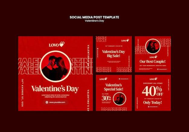 Valentijnsdag instagram-berichten