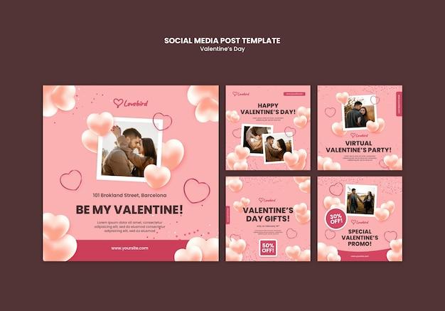 Valentijnsdag instagram post met foto