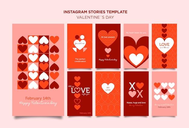 Valentijnsdag instagram verhalen sjabloon