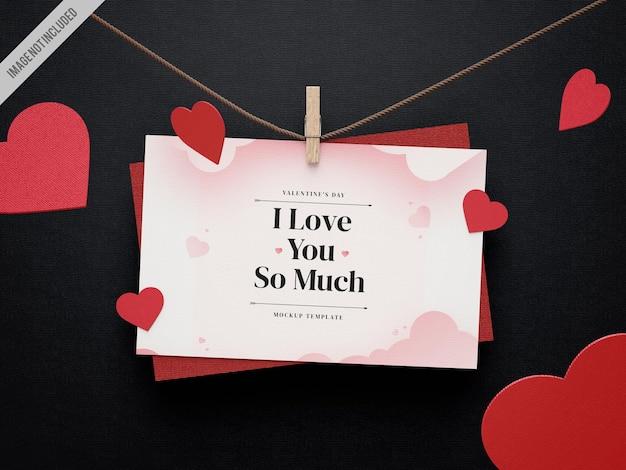 Valentijnsdag kaartmodel