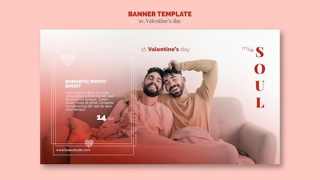 Valentijnsdag mijn ziel banner paar
