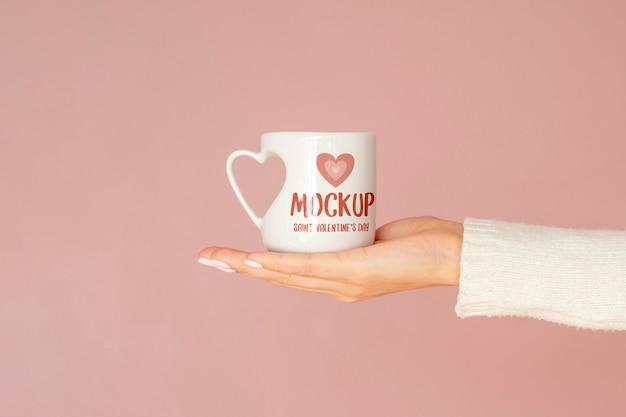 Valentijnsdag minimaal concept mock-up