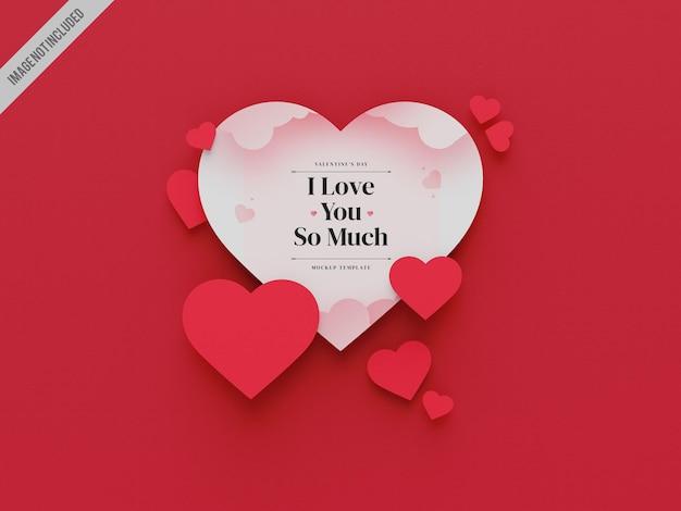 Valentijnsdag mockup tempalte