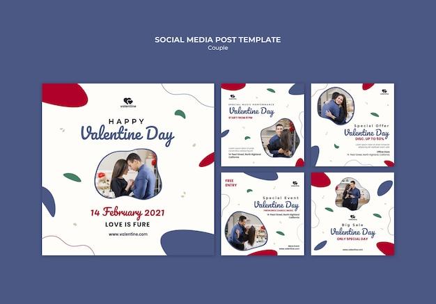Valentijnsdag paar instagram-berichten