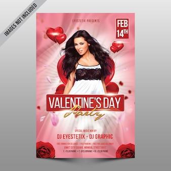Valentijnsdag partij mockup