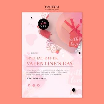 Valentijnsdag poster sjabloon met foto