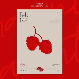 Valentijnsdag poster sjabloon