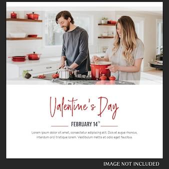 Valentijnsdag postsjabloon