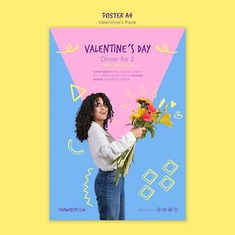 Valentijnsdag sjabloon poster