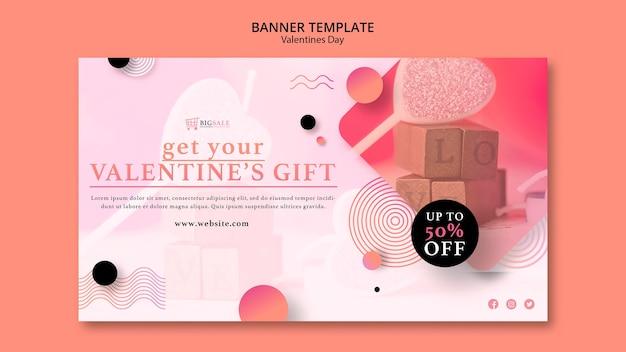 Valentijnsdag sjabloon voor spandoek met foto