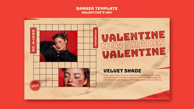 Valentijnsdag sjabloon voor spandoek