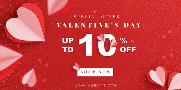 Valentijnsdag verkoop promotie kaart ontwerp