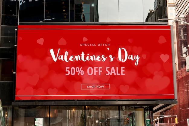 Valentijnsdagaanbieding met mock-up