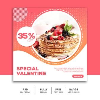 Valentine banner social media post instagram