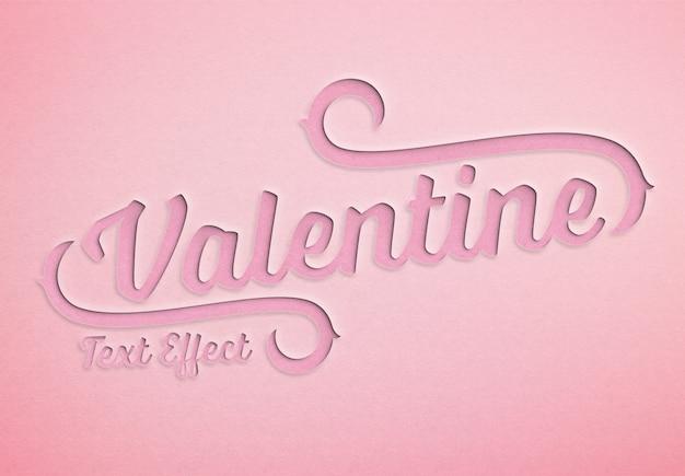 Valentine-dagdocument sneed teksteffect model