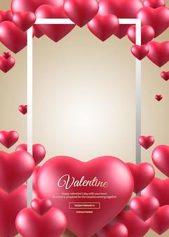 Valentine frame banner