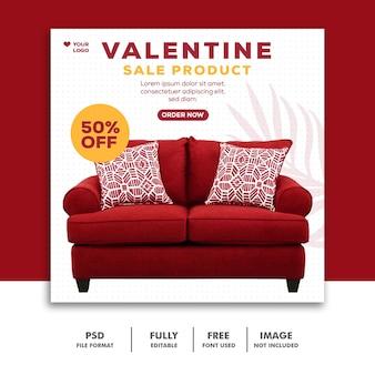 Valentine-productverkooppost voor sociale media