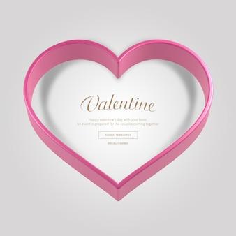 Valentine roze heartt banner
