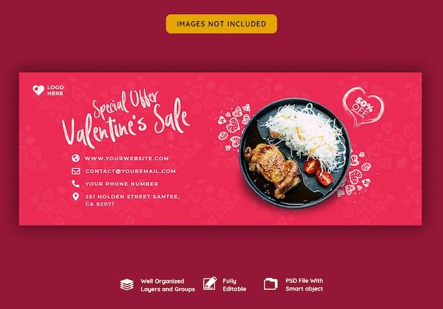 Valentine's verkoop facebook cover banner