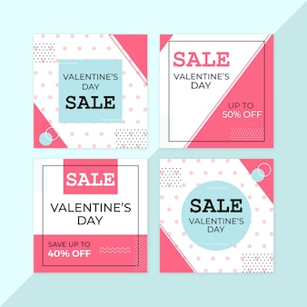 Valentine sale banners