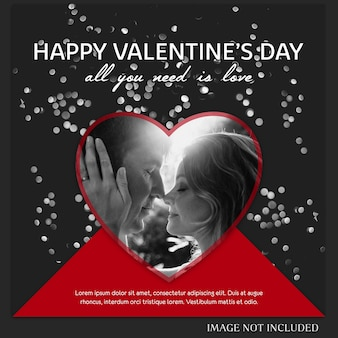 Valentines day instagram post template y banner template