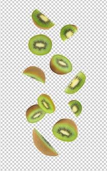 Vallende kiwi's voor uw ontwerp
