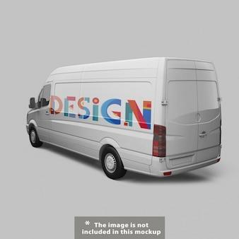 Van mock up di progettazione
