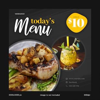 Vandaag menu social media banner template
