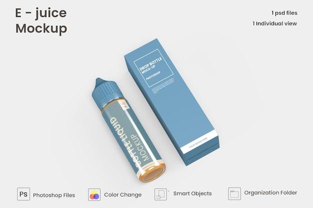 Vape vloeibare fles mockup ontwerp geïsoleerd premium psd