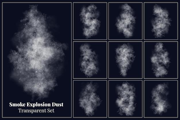 Varias formas de colección de polvo de explosión de humo