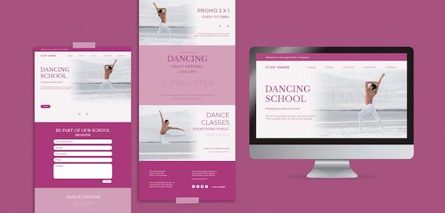 Varias plantillas web y pantallas