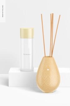 Vaso difusor de láminas con maqueta de botella