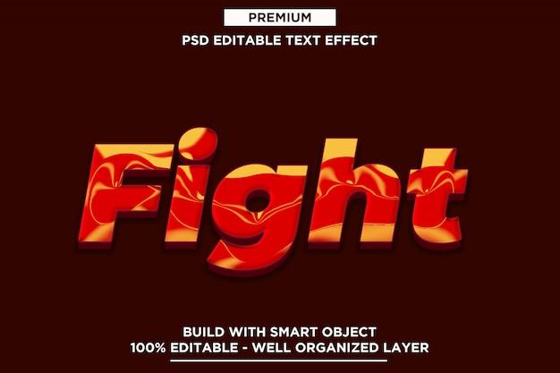 Vecht - 3d sjablonen voor moderne effecten met tekst