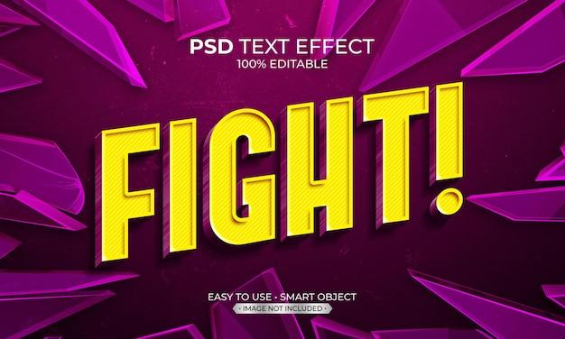 Vechten tekst effect