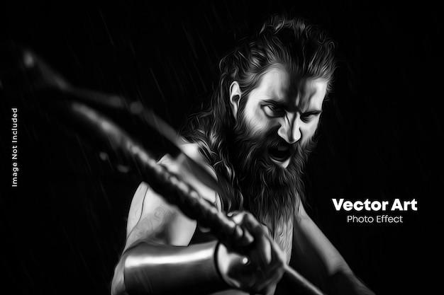 Vector kunst foto-effect sjabloon