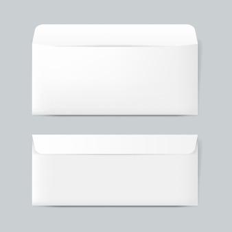 Vector de maqueta de diseño de sobres de papel normal